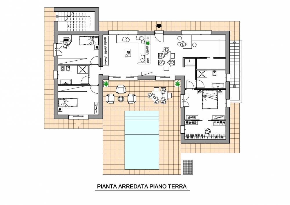 Esempio pianta arredata di una casa di civile abitazione for Miglior design della planimetria